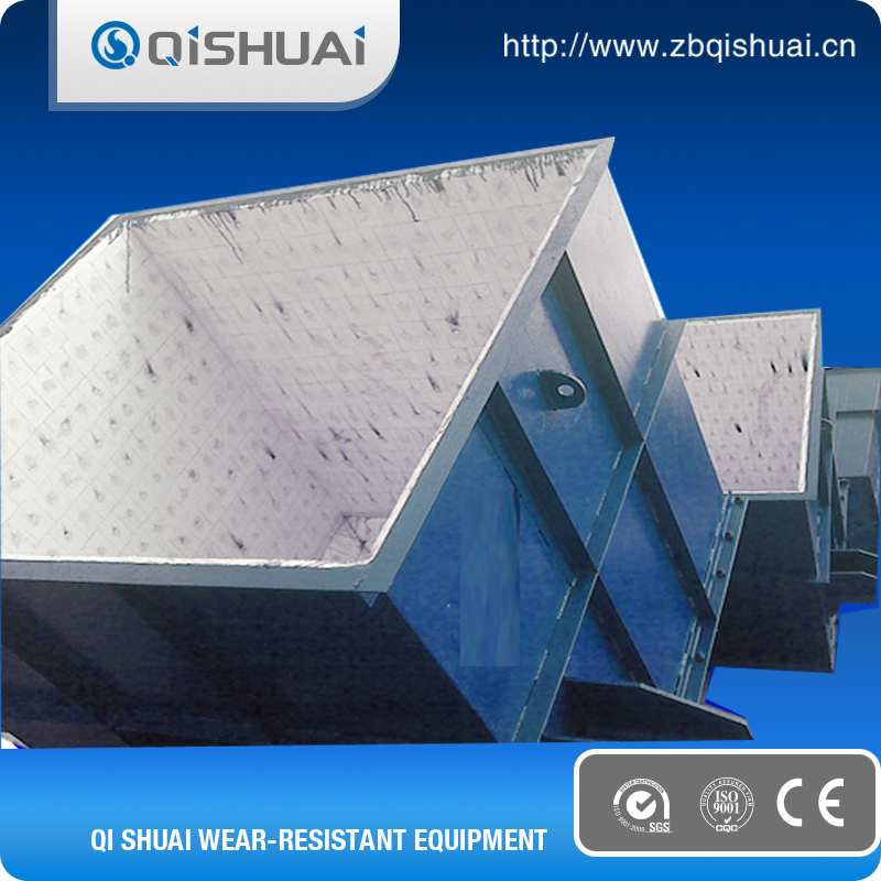 Steel & ceramic & rubber composite wear liner chute plate