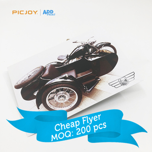High quality customized motorbike postcard Insert card leaflet online printing in shanghai