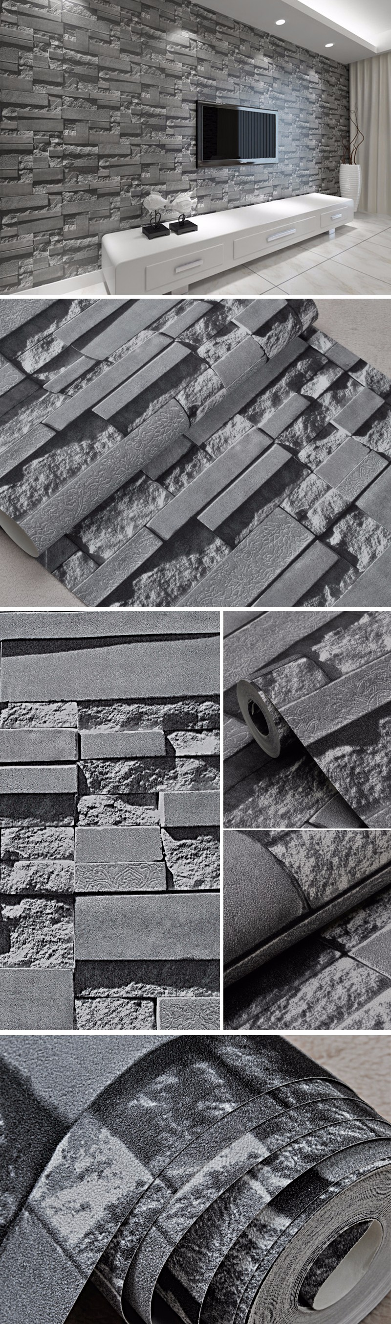 Vinyl for brick wall - Stone Wall Paper 3d Brick Wall Wallpaper Vinyl Waterproof 3d Wallpaper For Walls Roll