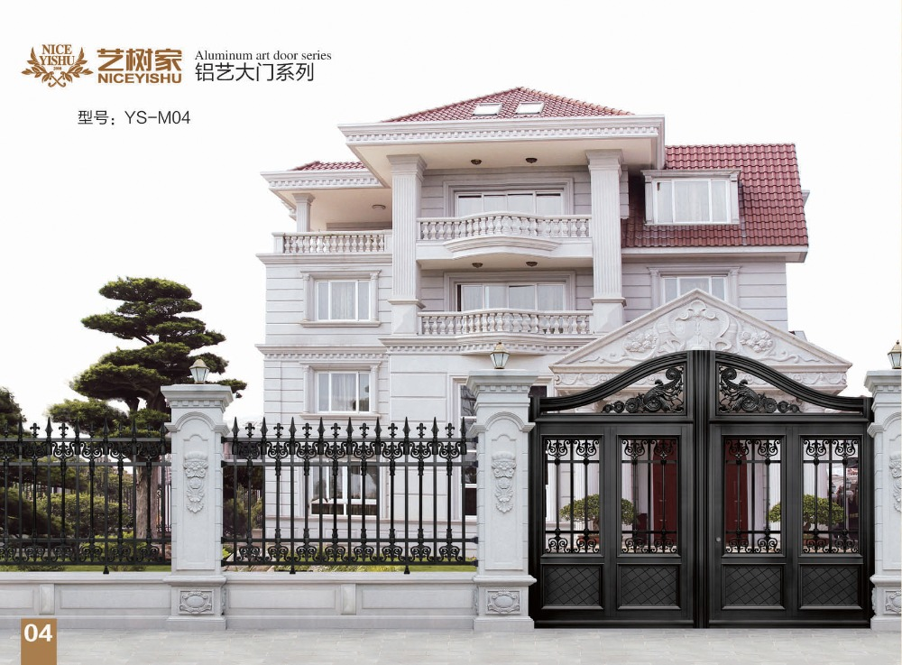 Shijiazhuang factory direct supply home gate grill design for Front gate design