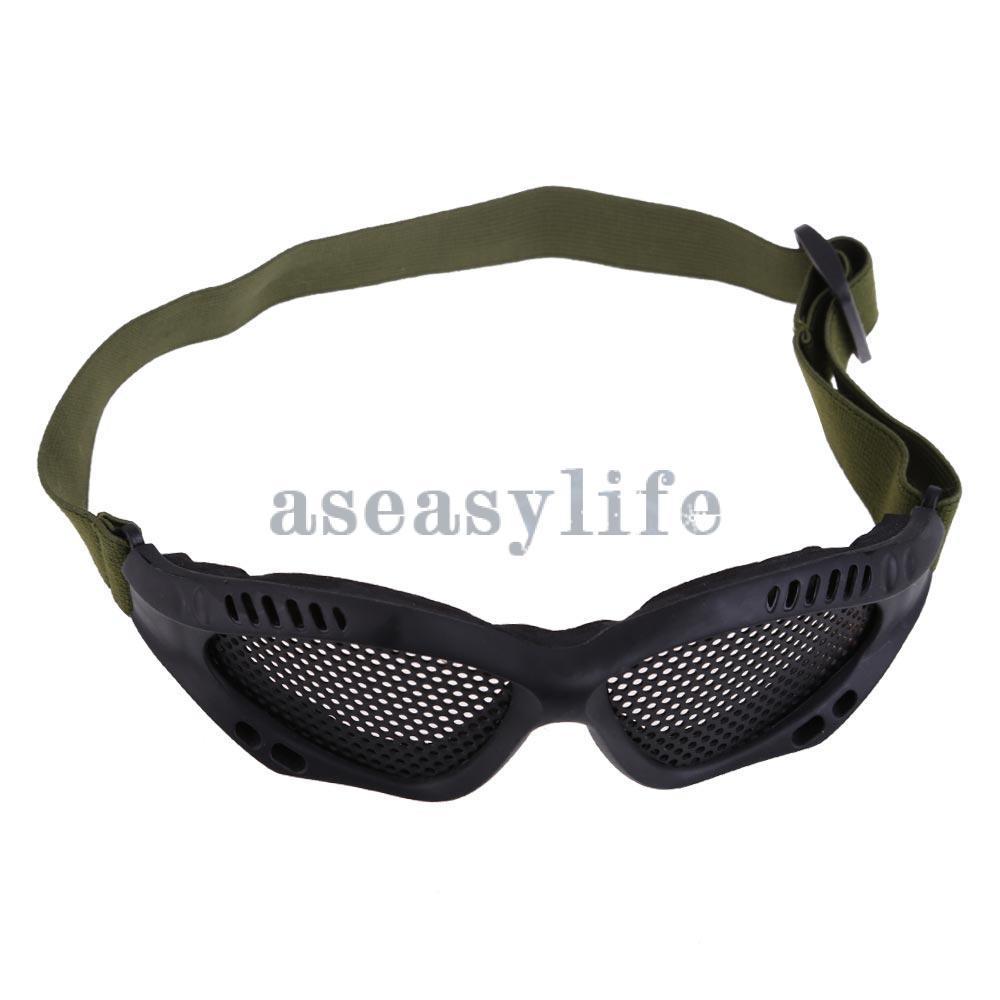 Тактическая Airsoft сталь сетчатая ткань глаза защитное очки очки очки черный ASAF