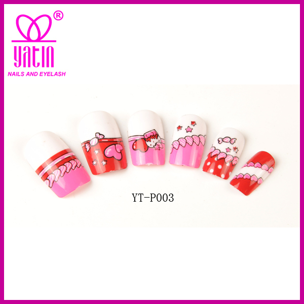 High Quality Kids Fake Nails,Knot False Nails,3d Nail Art Tips - Buy ...