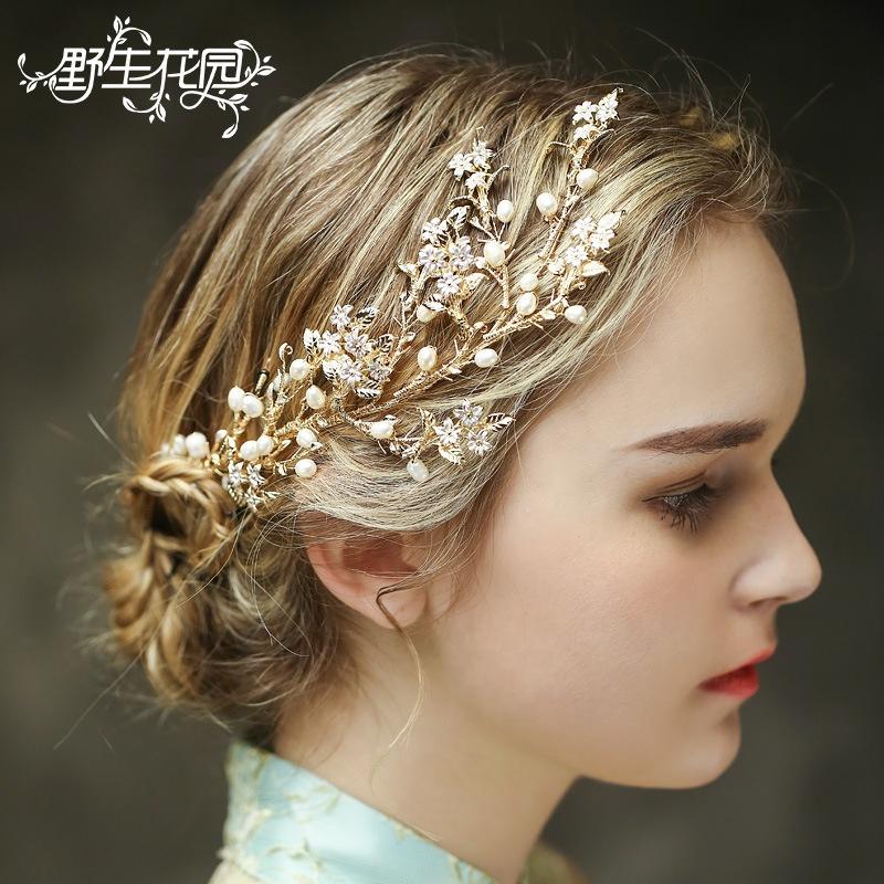 Bridal Headwear Weddings & Events Dashing European American Popular Simulation Wreath Wedding Hair Accessories Bridal Headpiece Handmade Vintage Flower Headwear 22cm