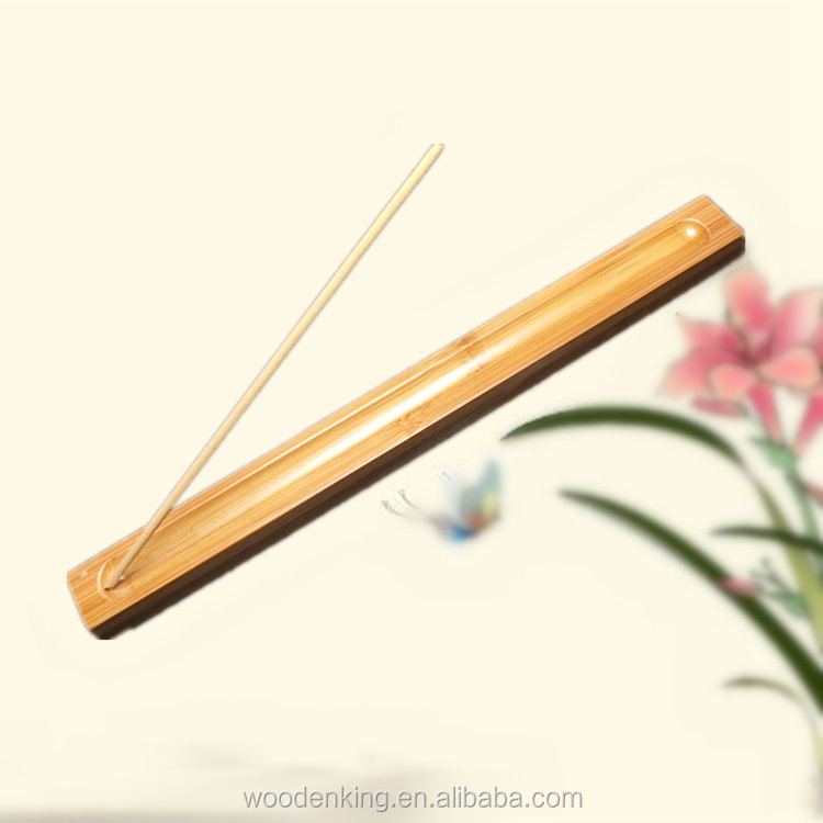 Factory Direct Sale Custom Wholesale Smoked Bamboo Incense Inserted Joss Stick Seat Stick Holder Wooden Incense Burner