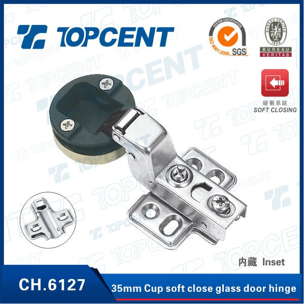 35mm cup slow closing hinge for cabinet glass door