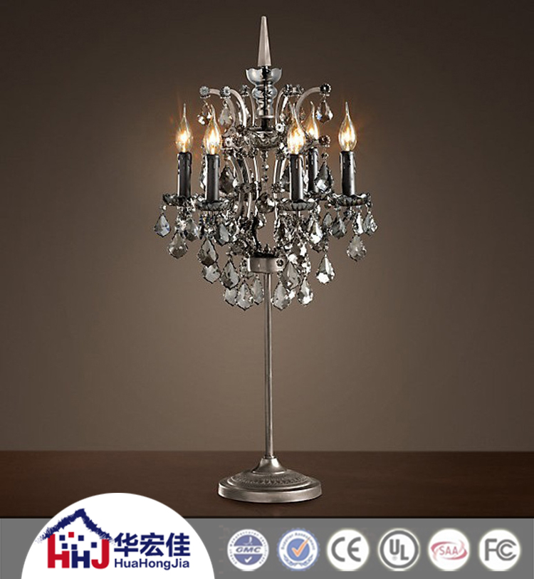 Hotel Clear Crystal Candelabra Table Lamp With Antique Painting Finish    Buy Crystal Candelabra Table Lamp Product On Alibaba.com