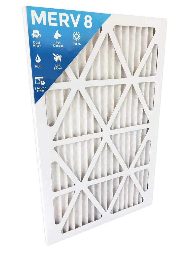 14x24x1 Merv 8 Pleated AC Furnace Air Filters. Box of 6. (Actual Size:13-1/2 x 23-1/2 x 7/8)