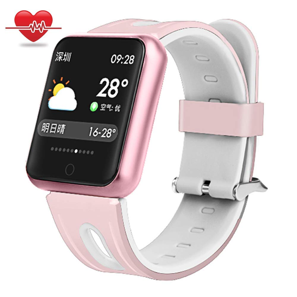 Fitness Tracker for kids,Being Smart Wristband Watch with Heart Rate Monitor Sleep Monitor Calorie Counter Pedometer Watch Waterproof Activity Tracker GPS Bracelet Women/Men for Women Men Kids- Pink