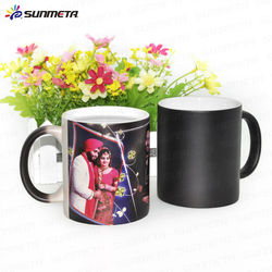 11oz sublimation ceramic magic photo color changing thermal mug for sale