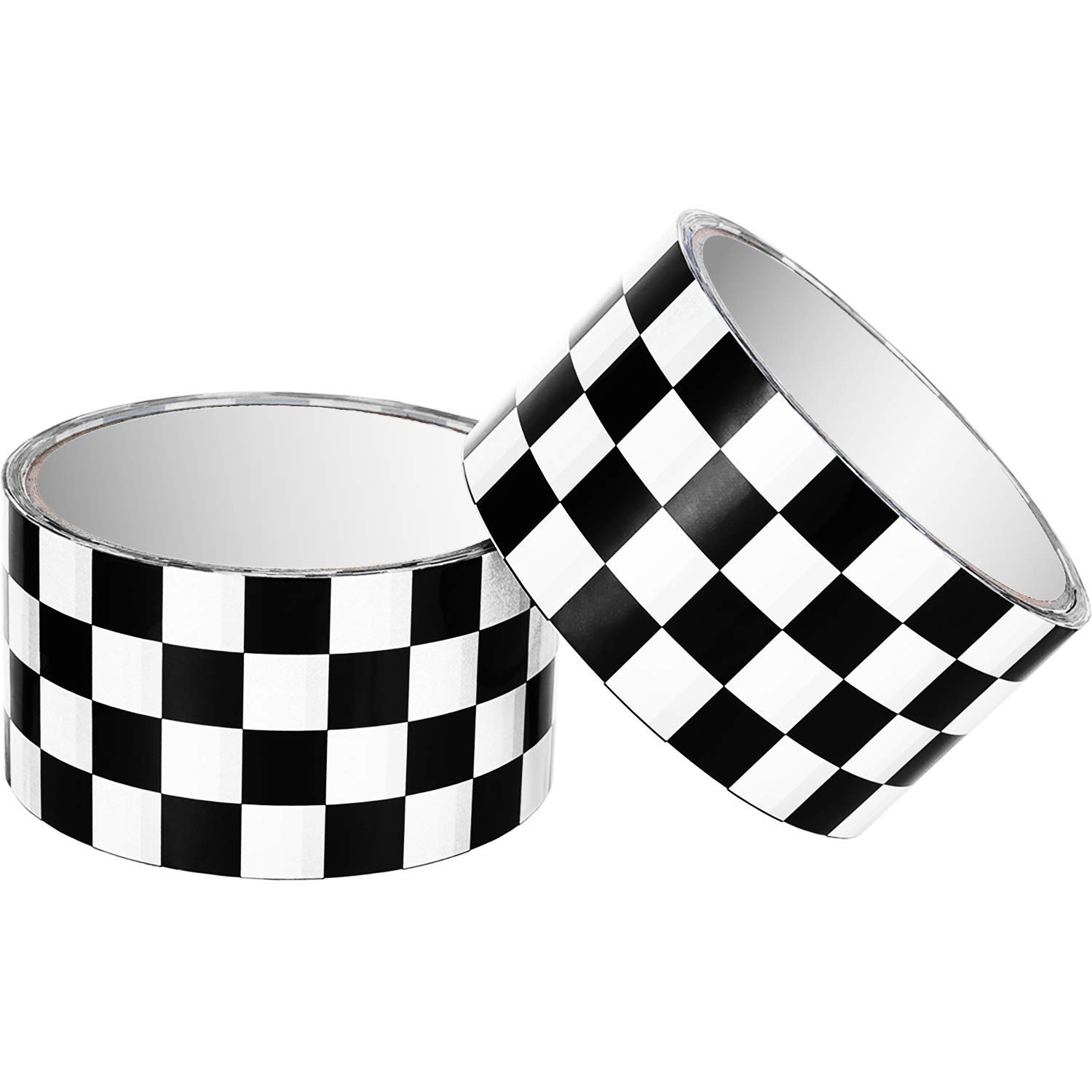 Buy Tecunite 2 Pieces Checkered Tape Black And White Checkered Flag