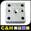 Aluminum stainless steel brass plastic milled components