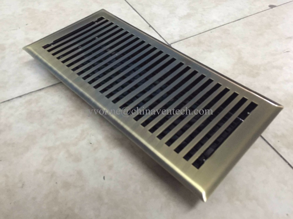 Metal Decorative Floor Grilles Supply Air Diffuser Ventilation Air Vent