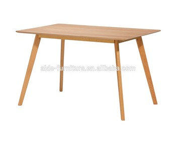 Coffee Shop Rectangle Shape Wooden Dining Table