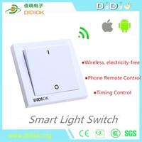 DIDIOK Smart Wireless No Battery Light Switch