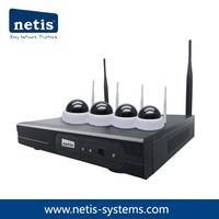 4CH Wireless Dome IP Camera & NVR Security Kit