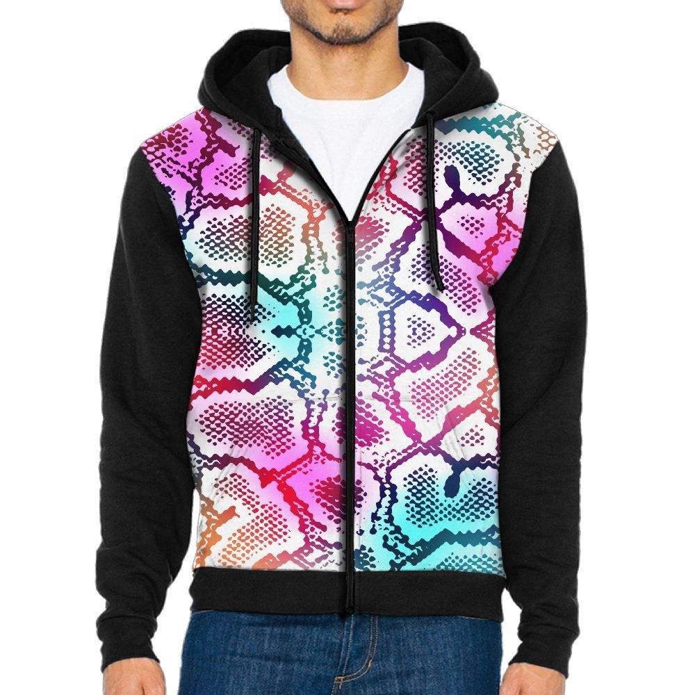 Neon Snake Skin Adult Popular Hooded Big Pockets Sweatshirt Running Hoodies