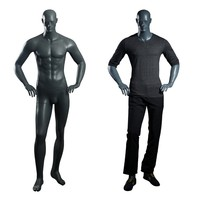 Customized full size standing strong sport muscular fitting fiberglass black male mannequin