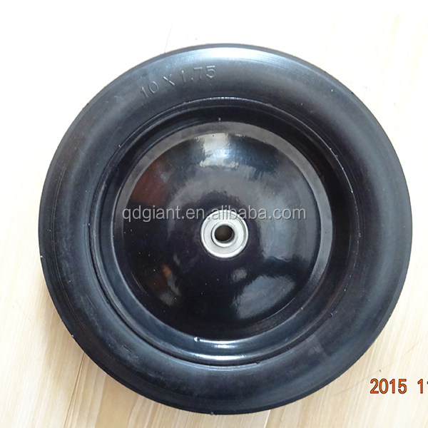 "10""x1.75"" Semi-hollow rubber wheel"