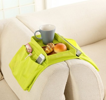 TV Remote Control Holder Caddy Sofa Couch Arm Rest Organiser With Cup Holder  Tray Sofa Bag