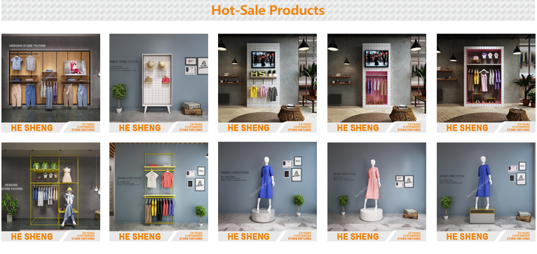 Tall rack .clothing store display fixtures. country style HB02G02