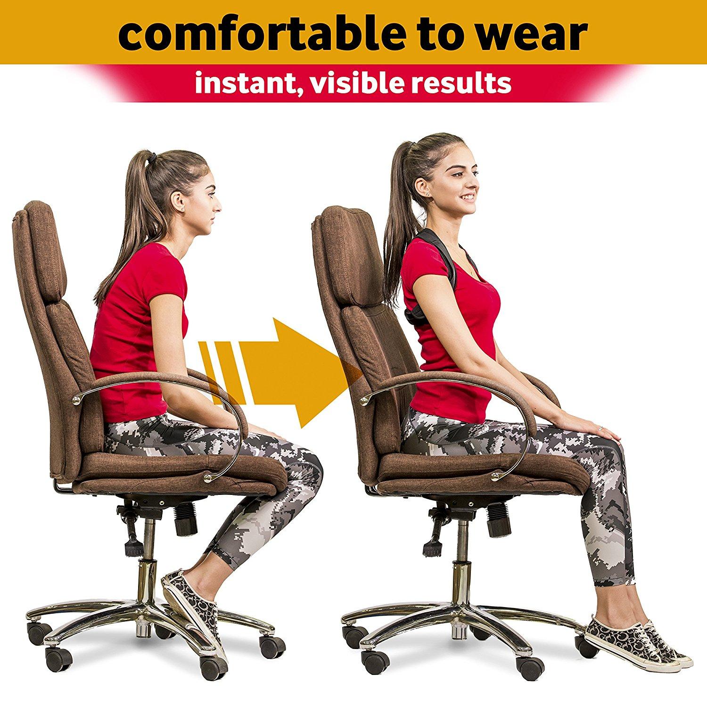 2018 Posture Corrector Back And Shoulder Support Brace ...