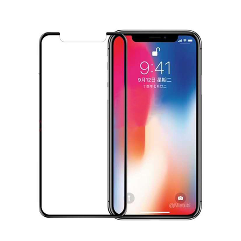 Mobile phone screen protective film , 9H 5D round edge mobile phone Tempered Glass screen for iPhone X