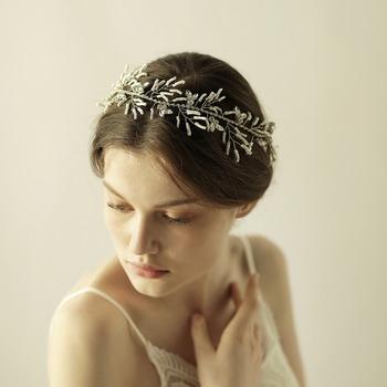 Japanese beads Bridal Headband Wedding Rhinestone Headbands Hair  Accessories Bridal tiaras Bride Ribbon Headbands af578207fb1