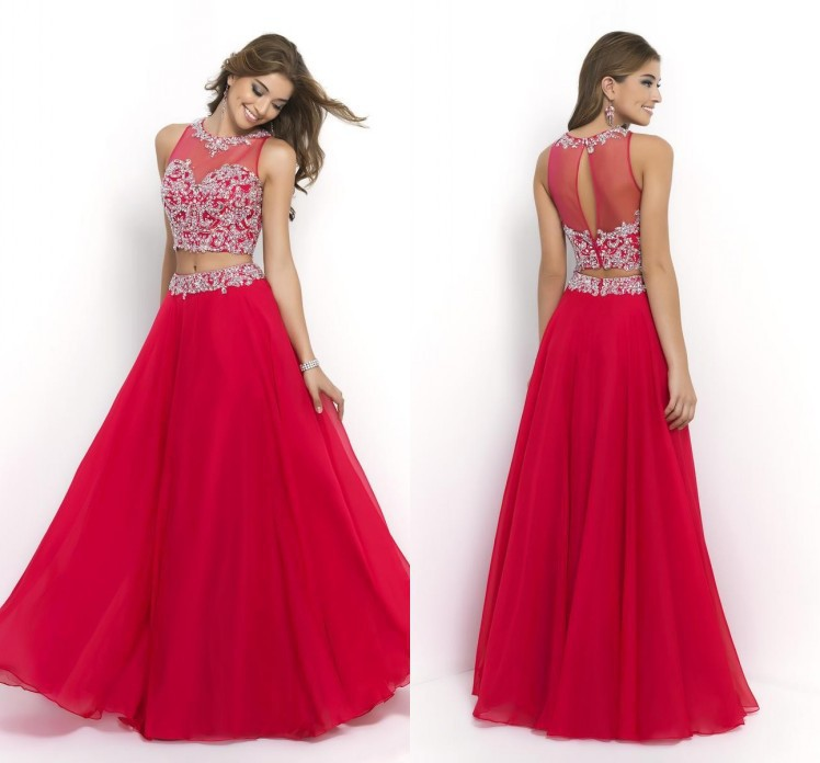 1e1166fb742 Get Quotations · 2015 New Red 2 Piece Fall Prom Dresses Floor Length  Sweetheart Beaded Hot Sale Custom Made