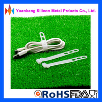 Factory wholesale high quality reusable self-lock silicone cable tie