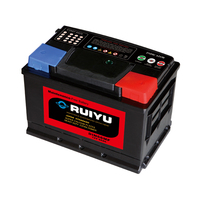 DIN super rechargeable dry battery type 12v 66ah storage battery