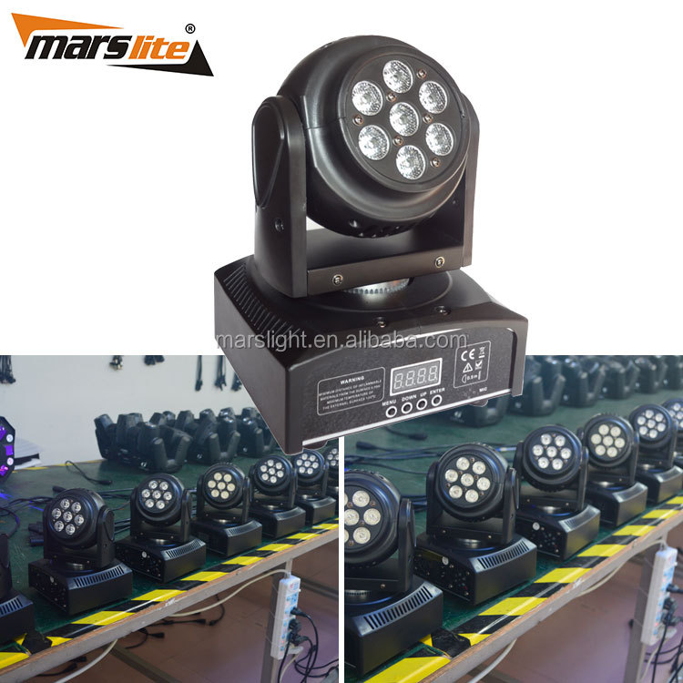 Newly style party disco stage show equipment double side 14pcs 3watts RGB 3in1 led mini moving head manual