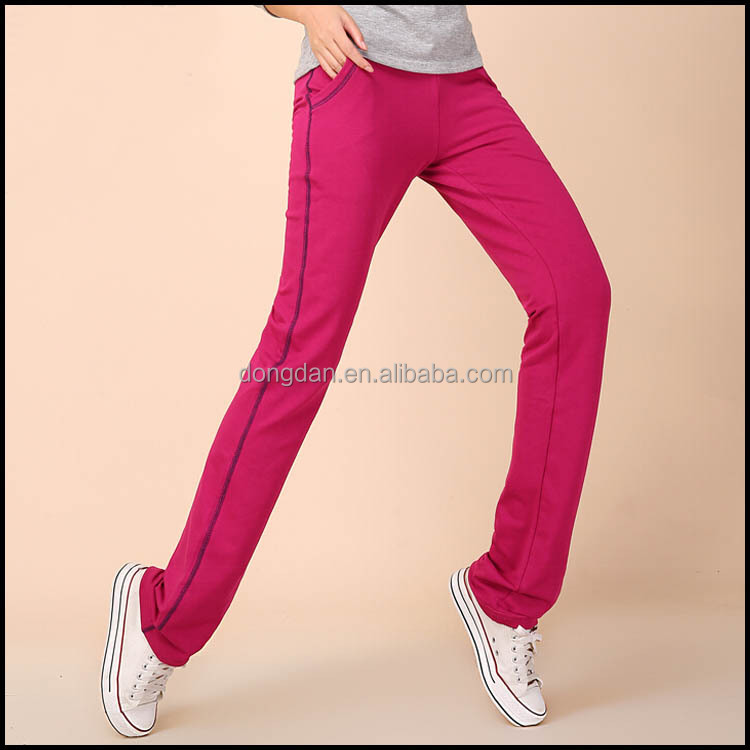 Hot sale fashion custom track jogger pants for lady with low price ,accept OEM