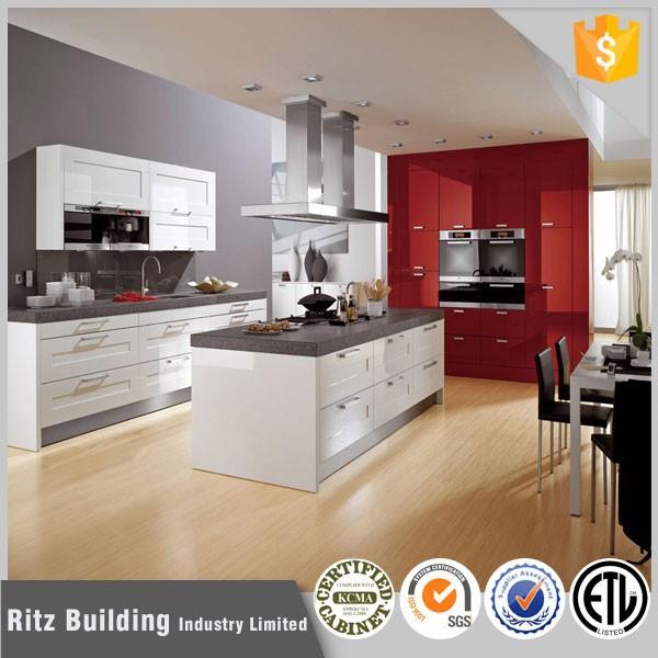 Ritz paquete plano cocina con isla de cocina cocina armarios ...