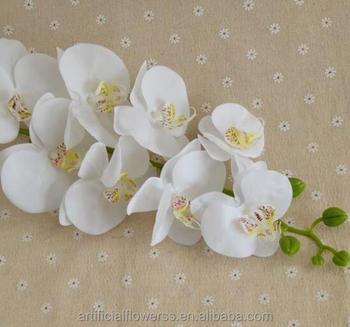 Fiori Bianchi Stelo Lungo.Di Seta Bianca Orchidee Artificiali Fiori Lungo Stelo Singolo