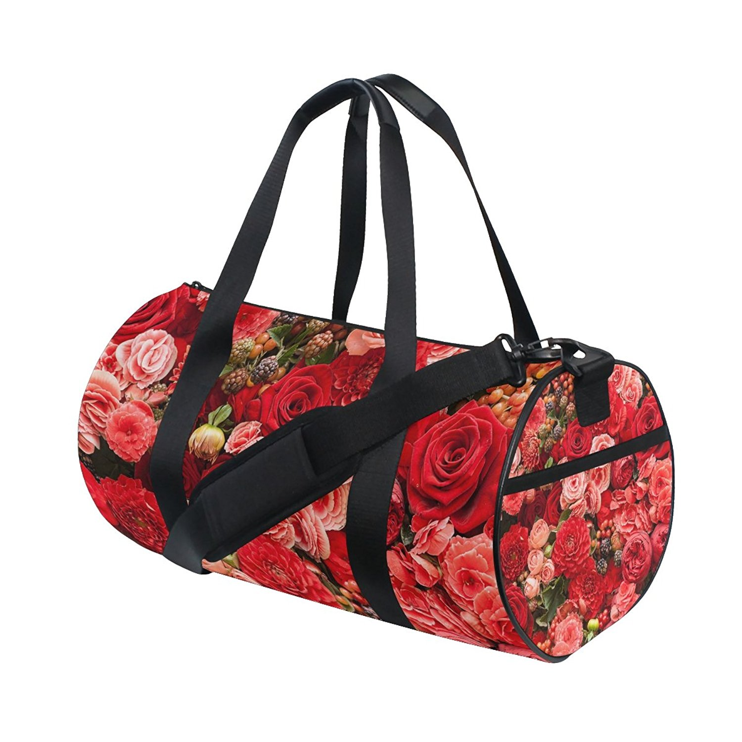 Get Quotations · ALIREA Roses Duffle bag Shoulder Handy Sports Gym Bags for  Men and Women 5fe89bd814cb6