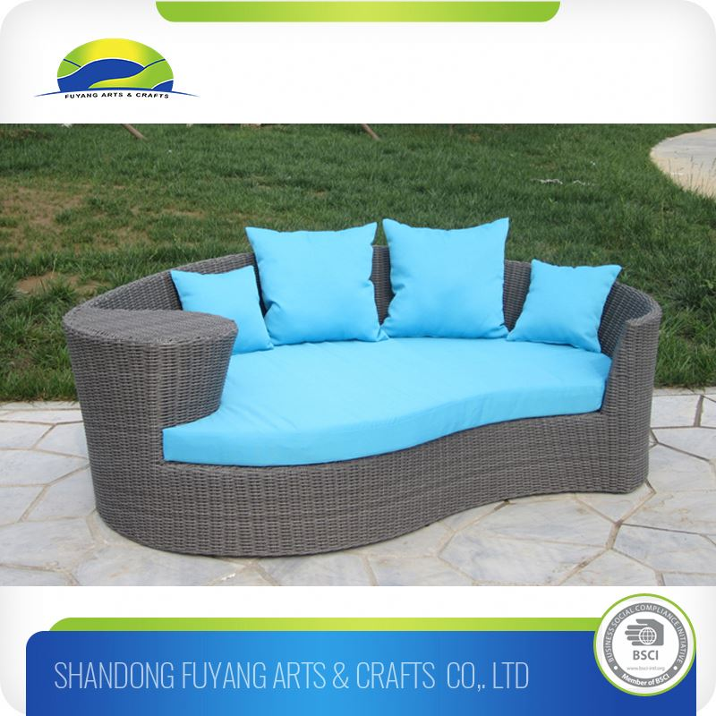 Outdoor Furniture Rattan Round Daybed/Sunbed