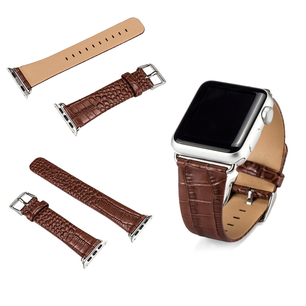 2016 KW Hot Sale Geniue Leather for Apple Watch Band, Real Leather Apple Watch Strap