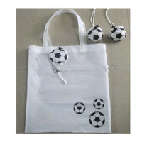 Fashion design football shaped shopping bag with pouch