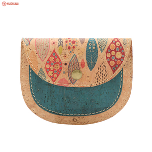 omen sustainable peacock blue cork fabric clutch bag cork tote cork bag