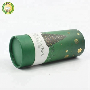 aluminum cosmetic tube with metal lids for tea packing use kraft paper packaging cosmetic paper tube