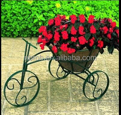 Beautiful Outdoor Tricycle Garden metal flower pot rack