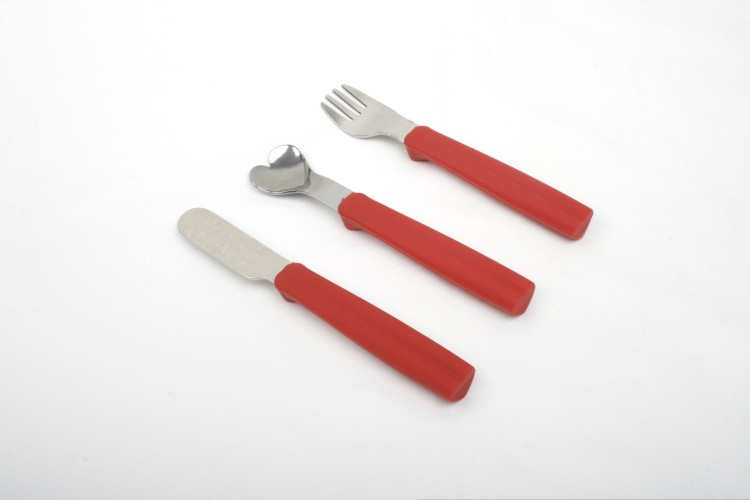 3pcs Kitchen Utensil Sets Knife Spoon Fork with Silicone Handle
