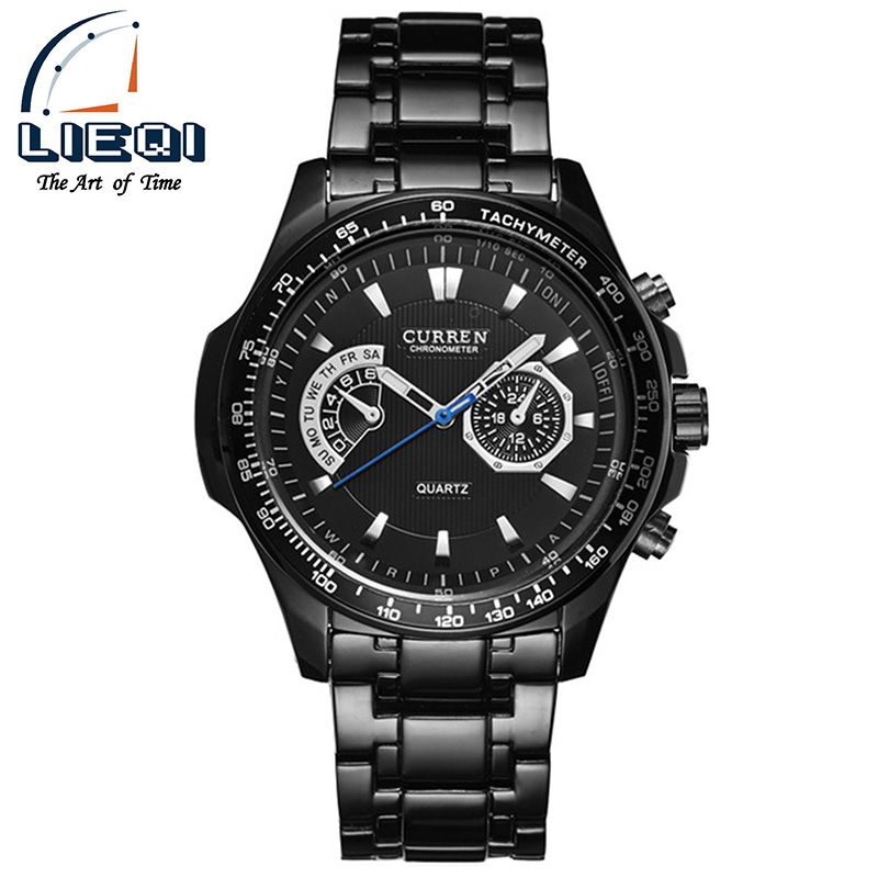 Curren Quarz Black Vogue Business Military Man Herrenuhren 3ATM wasserdichter Dropship Relogio