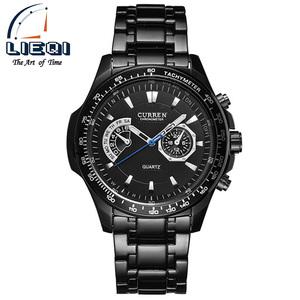 Curren quartz Black Vogue Business Military Man Men's watches 3ATM waterproof Dropship Relogio