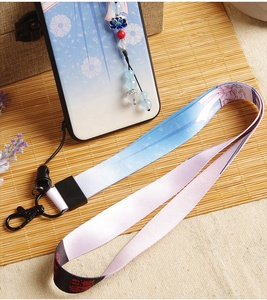 Amazon hot selling id card holder lanyard, Chinese style unique design full color custom polyester phone lanyard