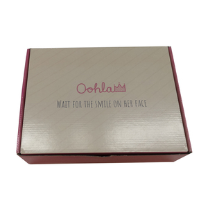 High quality rice pink color packaging box for cosmetic