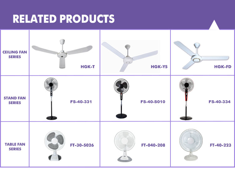 New design home appliances ceiling fan with speed control