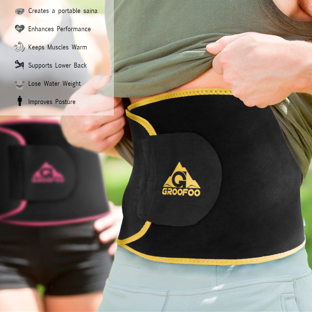 Custom Low Price Women Miss Sport Slimming Body Shaper Back Lumbar Waist Trainer Slim Sweat Belt