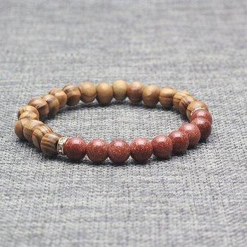 e120aed3e285 Top Moda Mezclar Bambú Yoga Pulsera Oro Sand Stone Beads Pulsera Para  Hombres Y Mujeres Regalo - Buy Piedra Natural Pulsera,Pequeñas Perlas ...