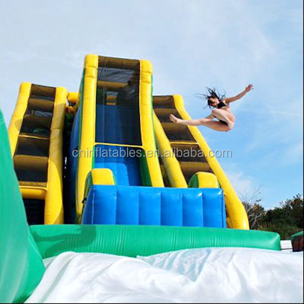 Inflatable Giant Slide: Giant Inflatable Drop Kick Water Slide/adult Inflatable